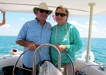 Captain Albert and Ronda, the owners of Key West Sailing Adventure, sailing yacht charters.