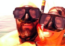 Looking for a great couple's vacation activity? They found it, snorkeling and sailing, the cure for the ordinary vacation.