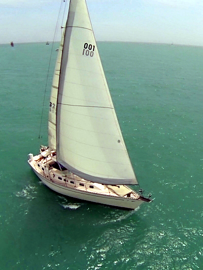 Wild Thing under sail during sailboat race