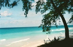 Beach in the Bahamas, long distance private sailing charter.