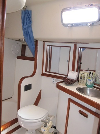 Key West Sailing Adventure Private Sailing Charters Our Boat Wild Thing Master Cabin Bathroom