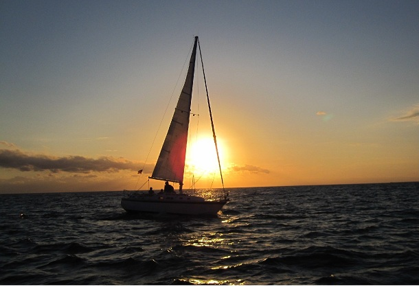 Key West Sailing Adventure Private Sailing Charters Our Boat Obsession With The Sun Setting Behind It